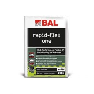 BAL Rapid-Flex One wall tile adhesive for bonding brick slips