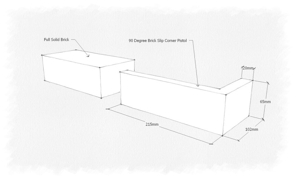 CAD of a brick slip corner